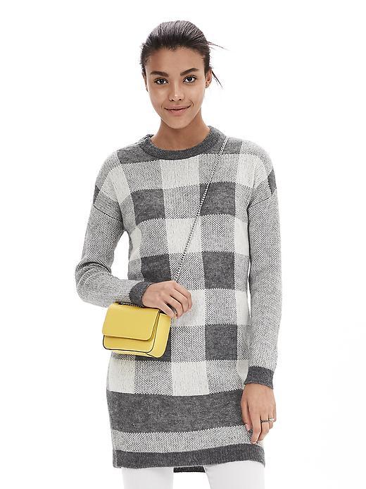 Buffalo Check Sweater Dress
