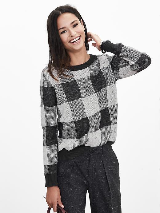 Buffalo Check Sweater Pullover