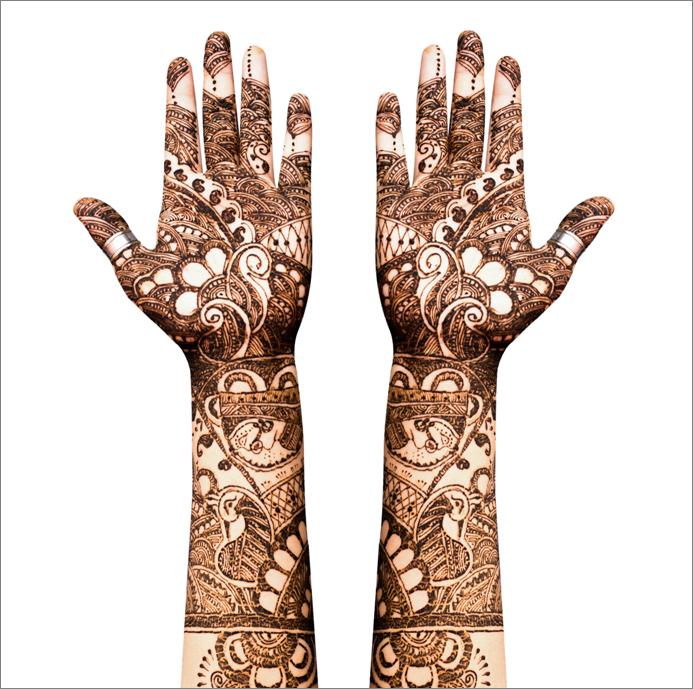 Henna the temporary tattoo technique for Henna tattoo process