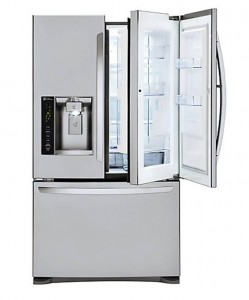 LG 24 cu. ft. Door-in-Door French Door Refrigerator with Slim SpacePlus Ice System in Stainless Steel