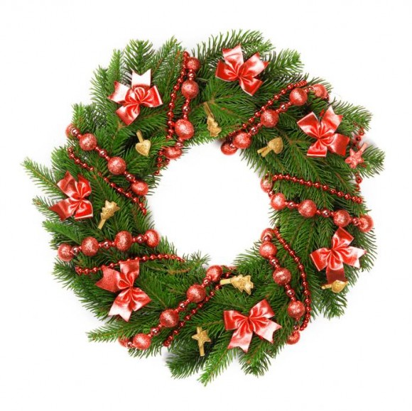 Hang up a Christmas wreath
