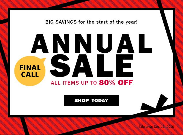 Yes Style Annual After Christmas Sale