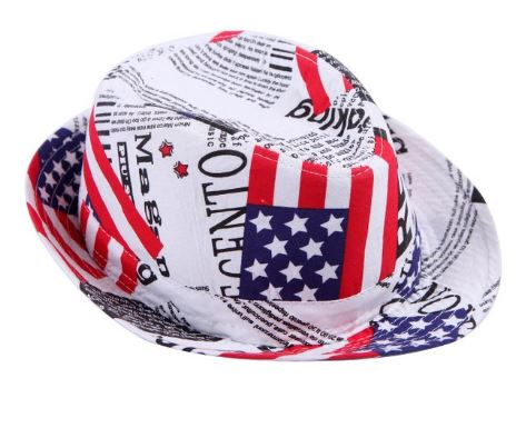 American Flag Fedora hat for memorial day