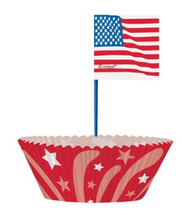memorial day themed cupcakes