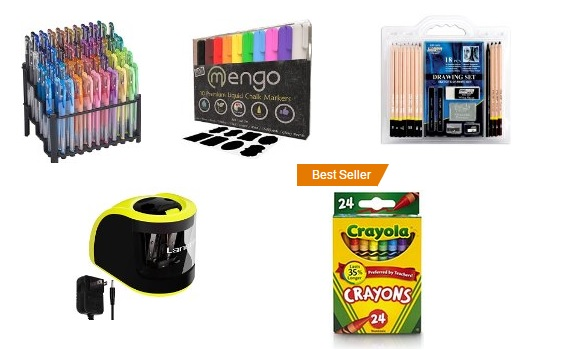 Back to school supplies at Amazon
