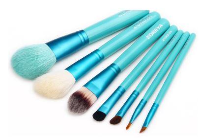 zoreya make up brush set aqua