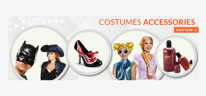 Halloween accessories from Costumes4Less