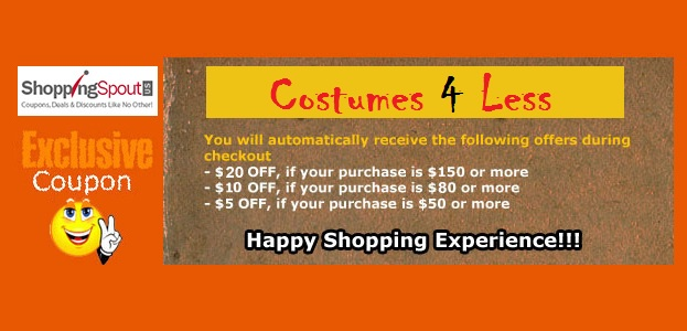 Exclusive Halloween Coupons from Costumes4Less