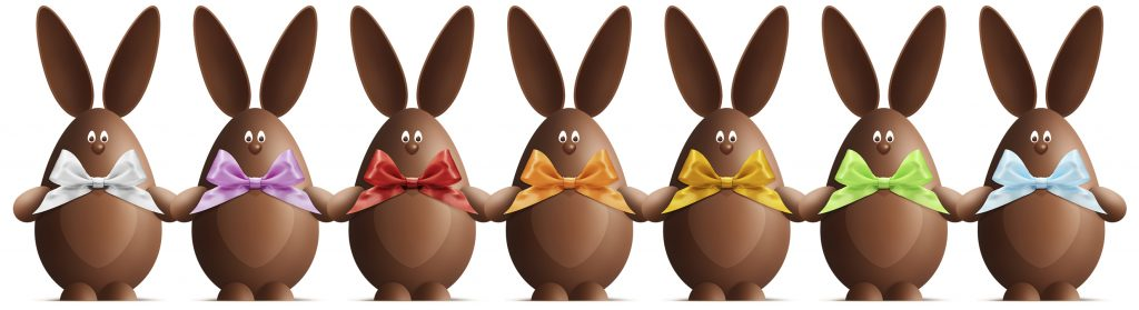 Chocolate Easter bunnies godiva